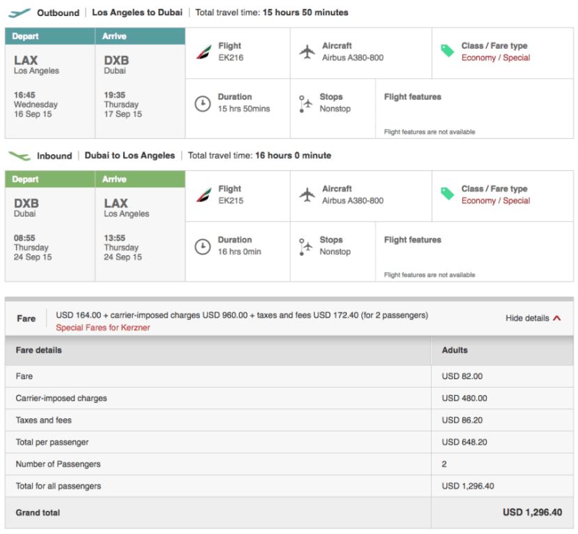 Los Angeles (LAX)-Dubai (DXB) for $648 on Emirates.