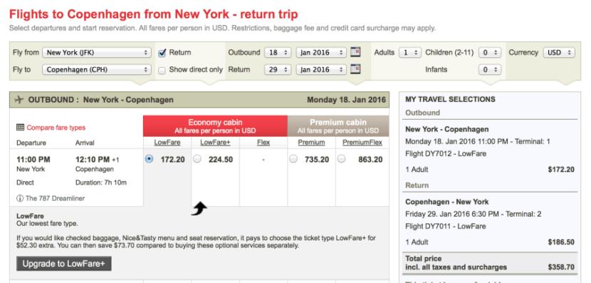 New York (JFK)-Copenhagen (CPH) for $358 on Norwegian.