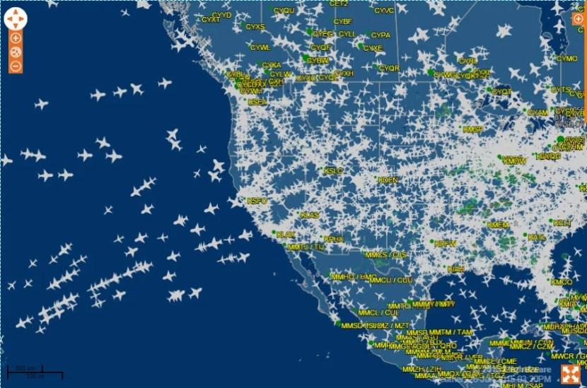 Screengrab from FlightAware.com