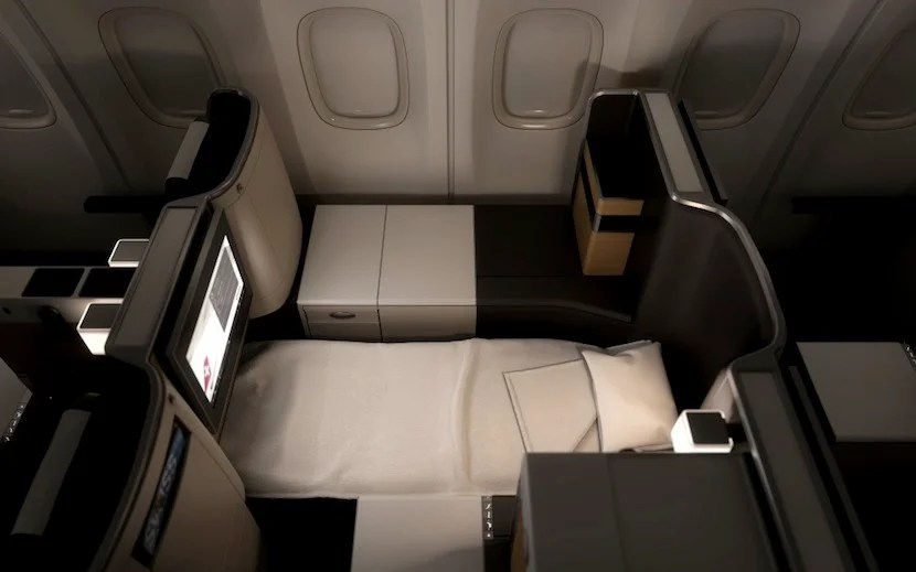 That new business-class bed looks pretty comfortable.
