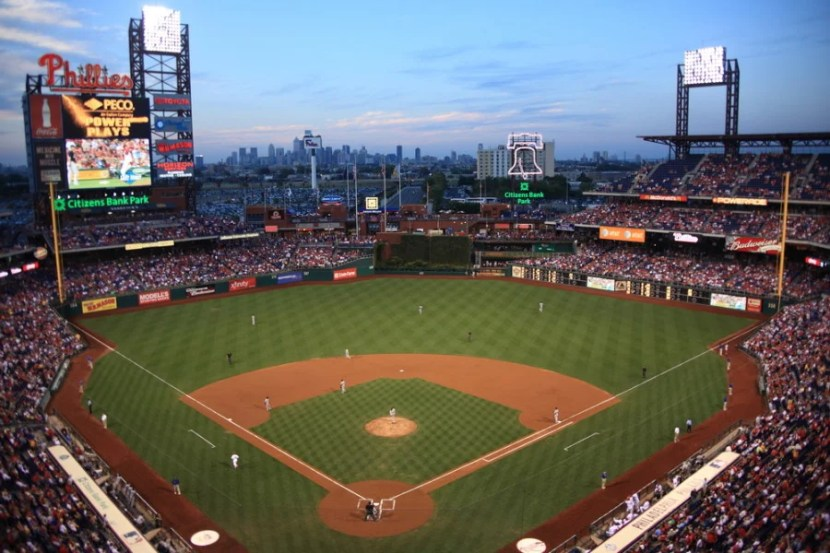 Citizens Bank Park in Philadelphia, Pennsylvania.