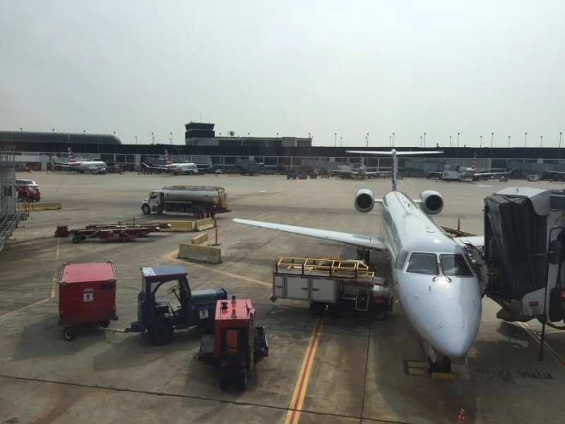 Unfortunately, the only planespotting you'll be doing at concourse G is of puny regional jets.