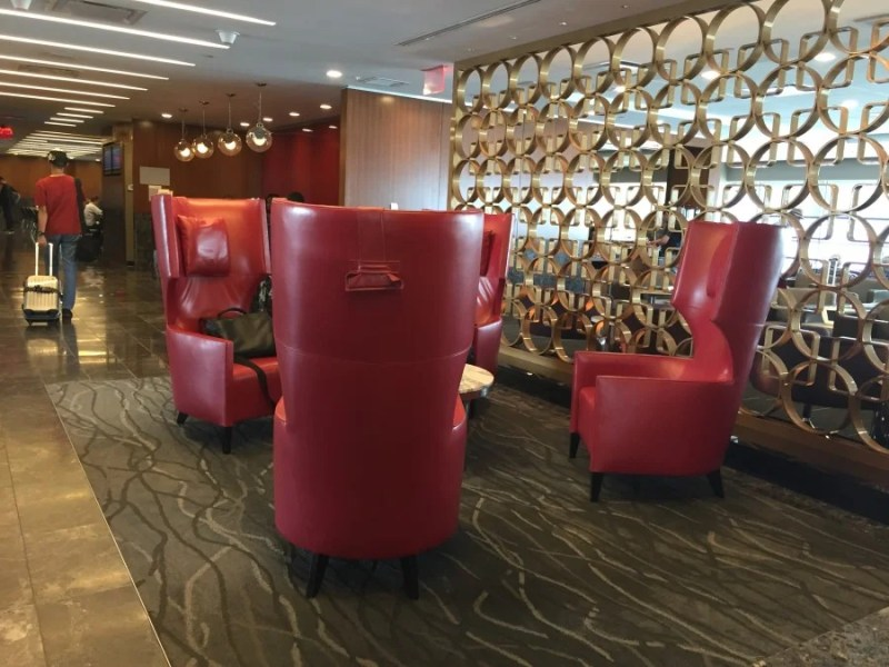 There's a wide variety of seating options to choose from in the terminal B Admirals Club at LaGuardia.