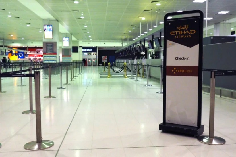 The check-in experience at SYD felt anything but first-class.