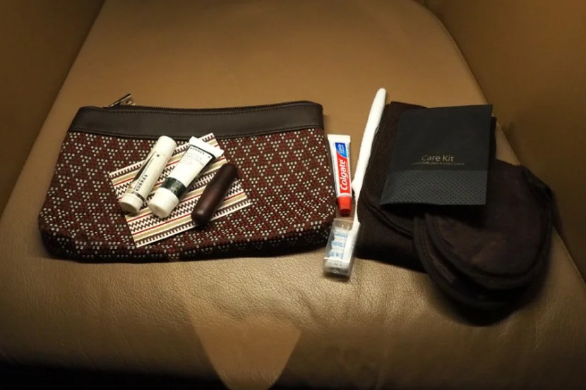 The simple but attractive amenity kit.