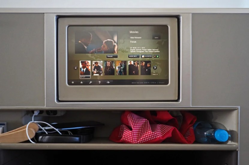 The in-flight entertainment selection was decent, but limited compared to US carriers.