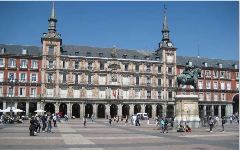 The Plaza Mayor is one of Madrid's most famous squares.