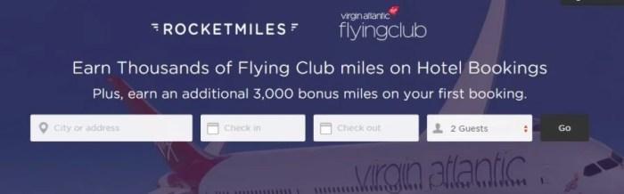 Rocketmiles offers 3,000 bonus miles for Virgin Atlantic
