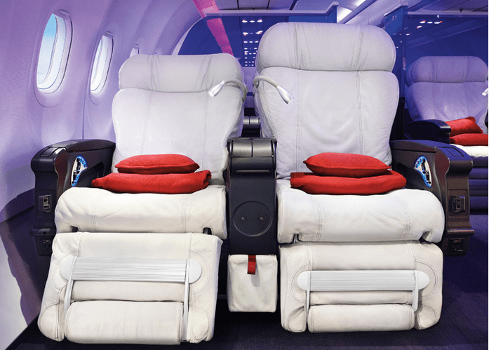 Virgin America's First Class cabin would be much more appealing if not so expensive in points.