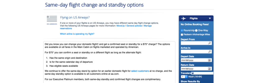 American's same-day change page doesn't list these new restrictions. You'll need to click through to the terms and conditions to see them.