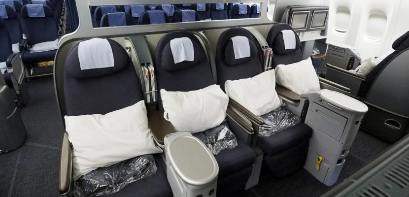 United's embarrassing 8-across business class.