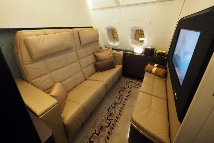 Etihad A380 The Residence - Living Room