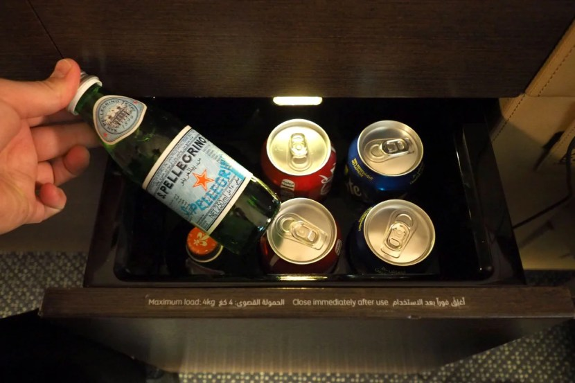 Each Apartment's mini-bar includes still and sparkling water and a selection of sodas.