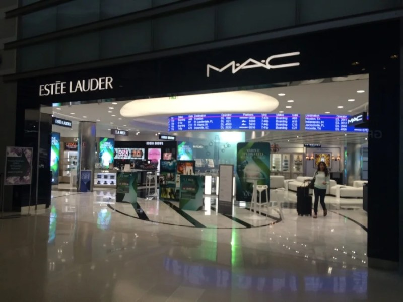 A beauty boutique inside DTW's McNamara Terminal Central link area features luxury products and fragrances.