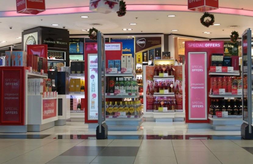 Duty-free shopping at Domodedovo. Photo courtesy of Shutterstock