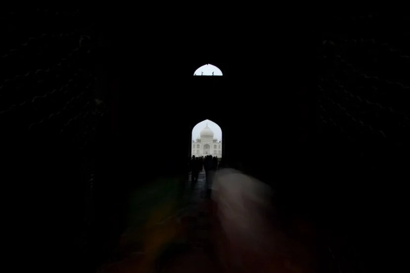 Standing at the South Gate to the Taj lets you capture great silhouette shots.