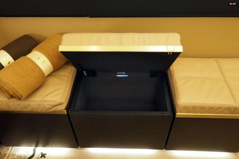 Etihad A380 The Residence - Storage