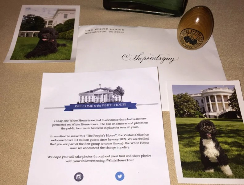 A gift from my White House tour.