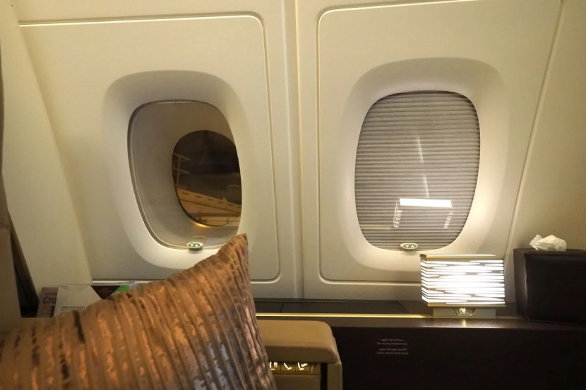 Etihad A380 The Residence - Window Shades