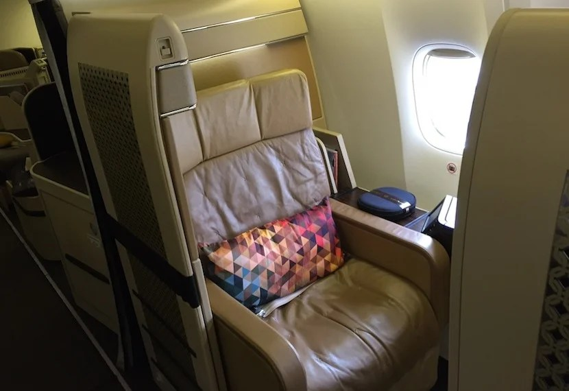Though nice, the old first-class seat isn't even in the same league.