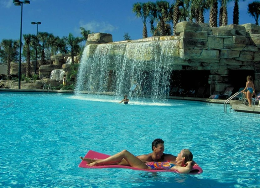 The Grotto pool has a waterfall, water side, and hot tub.