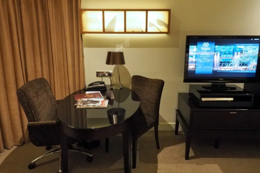 The desk in our Park View room.