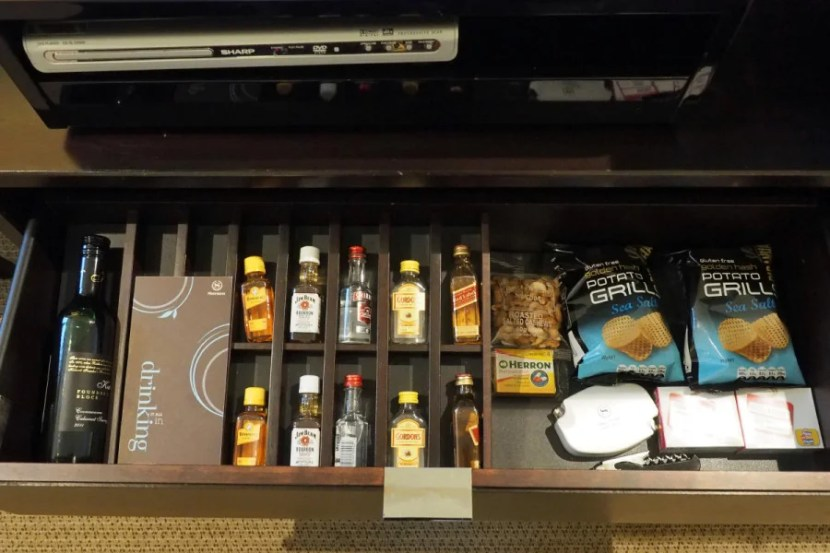The second half of the mini-bar in the Park View room.