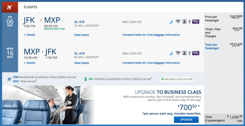 New York (JFK)-Milan (MXP) for $504 on Delta.
