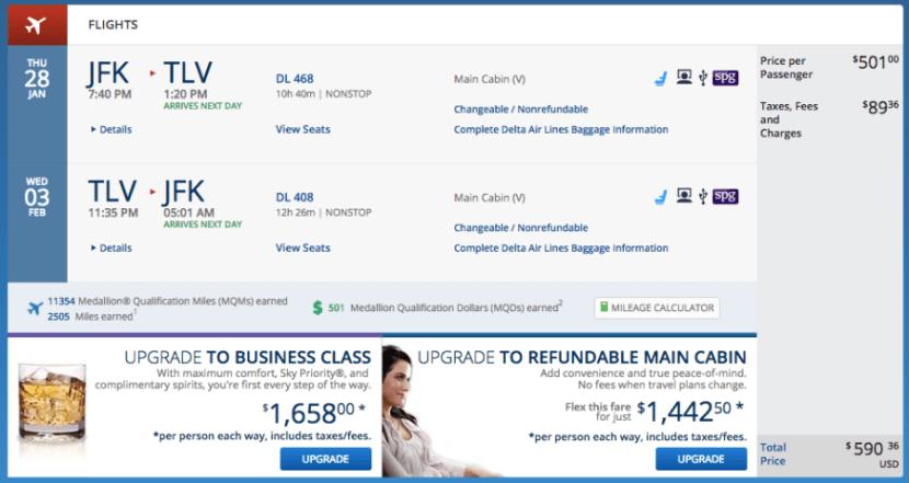 New York (JFK) - Tel Aviv (TLV) for $590 round-trip on Delta.