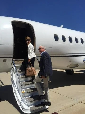 This Cincinnati couple became the first to ride on a Delta Private Jets upgrade.