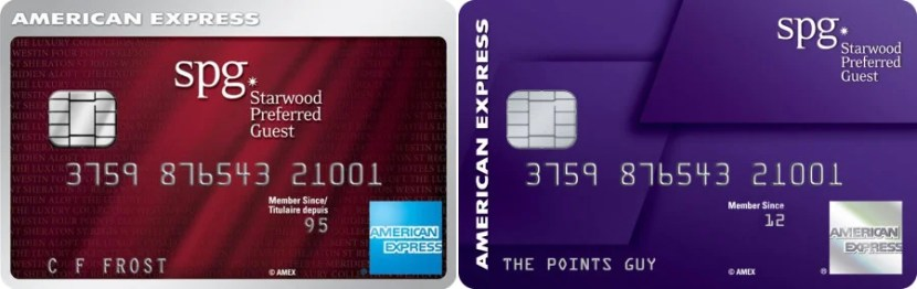 The American Express Starwood Preferred Guest card is getting a brand new look — the new card art is on the right.