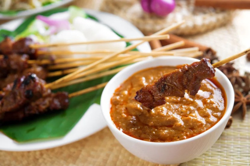 Some things are better with peanut sauce — except flights, for some people. Photo courtesy of Shutterstock.