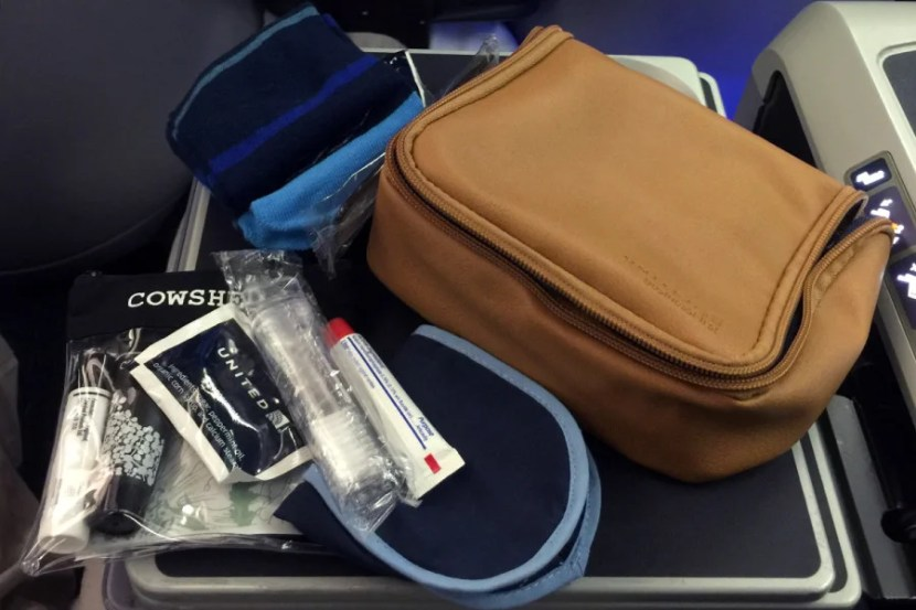 United's new business-class amenity kit.