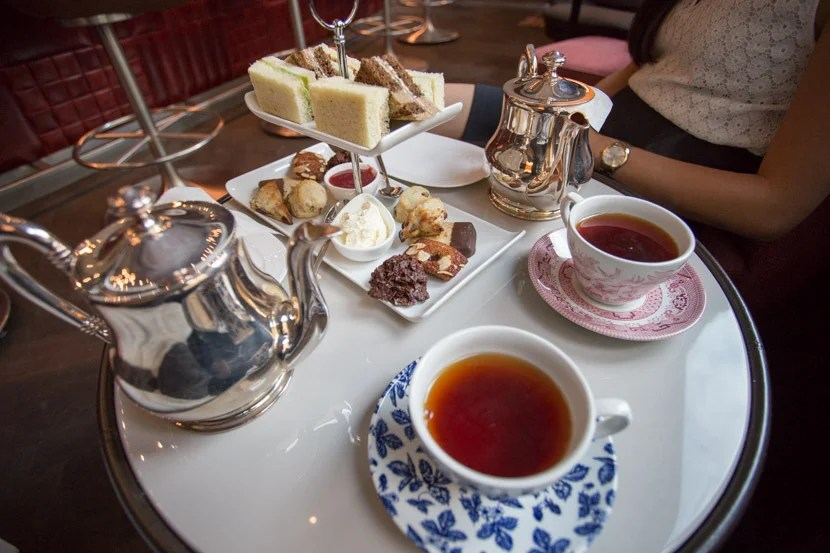 """Our """"Upside-Down Tea Party"""" afternoon tea service for two was just so-so, with decent food marred by service issues."""