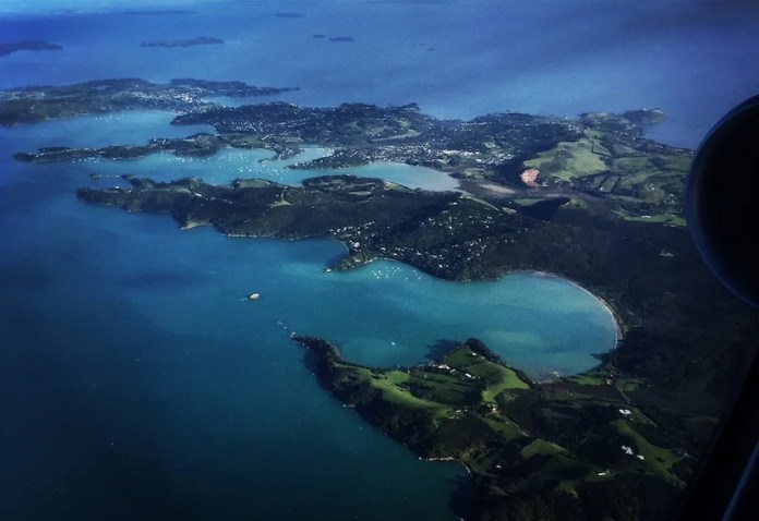 The final flight path into Auckland - how could you NOT want to visit New Zealand? Photo by Eric Rosen.