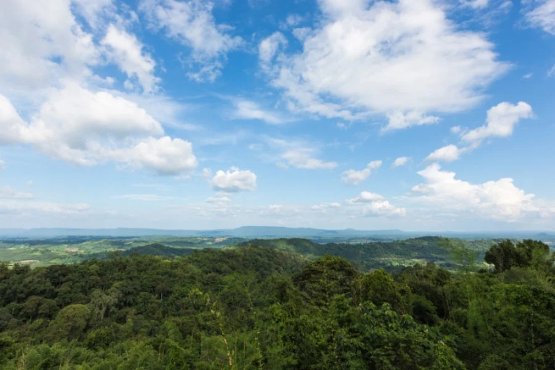 Blue skies and blue seas from the Blue Mountains of Jamaica. Photo courtesy of Shutterstock.