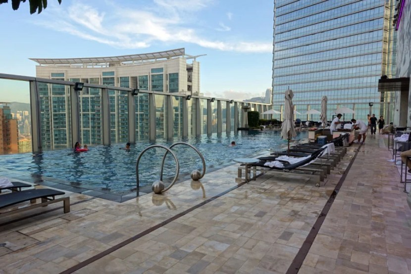 The incredible rooftop pool.