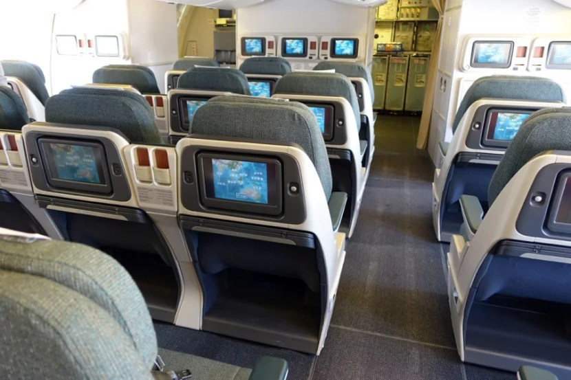 Business class from the rear.