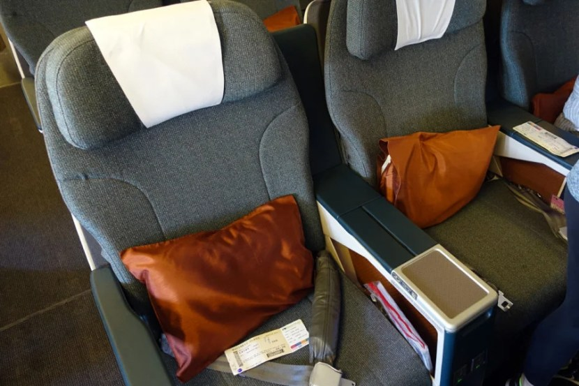My business-class seat.