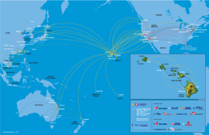 Use Hawaiian's extensive route map to your advantage.