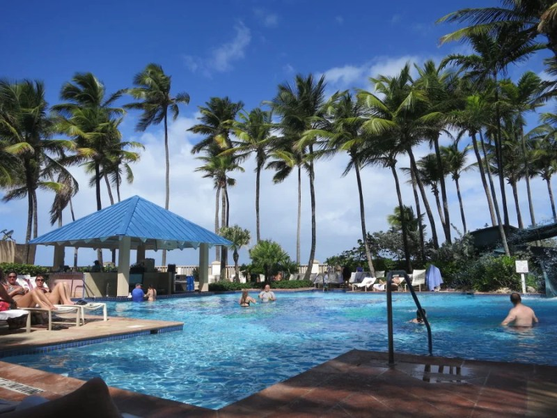 San Juan Marriott pool area. Photo by Kelsy Chauvin.
