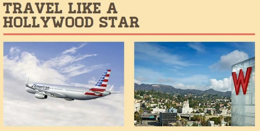 Win AA miles and a W Hollywood stay