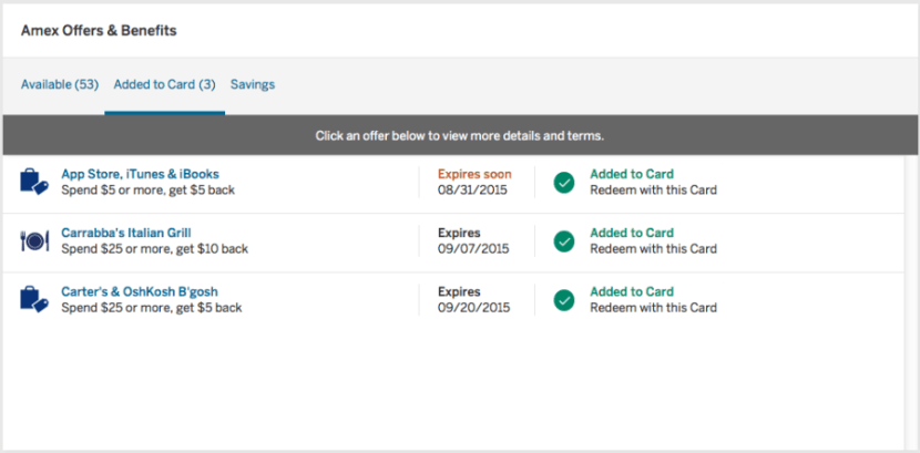 Amex online offer