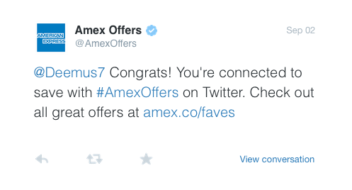 Twitter Amex Sync