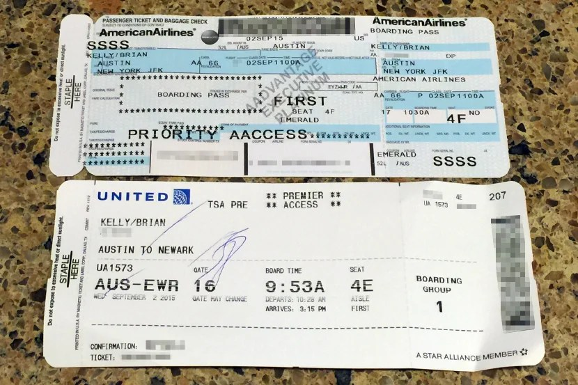My new boarding pass (bottom) got me through without issue.
