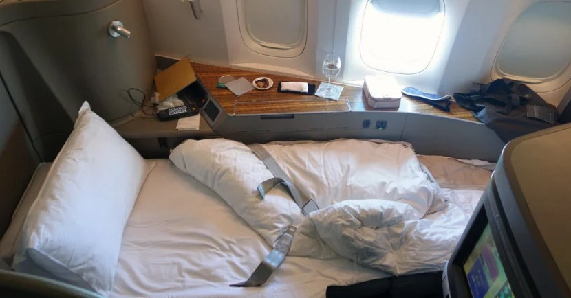 Get this bed in the sky in Cathay Pacific's incredible first class for under 44,000 SPG points.