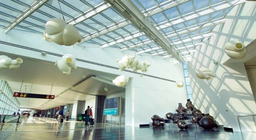 The art at SEA-TAC is cool... but it's ideal to be awake and refreshed when you see it. Photo courtesy of SEA-TAC on Facebook.