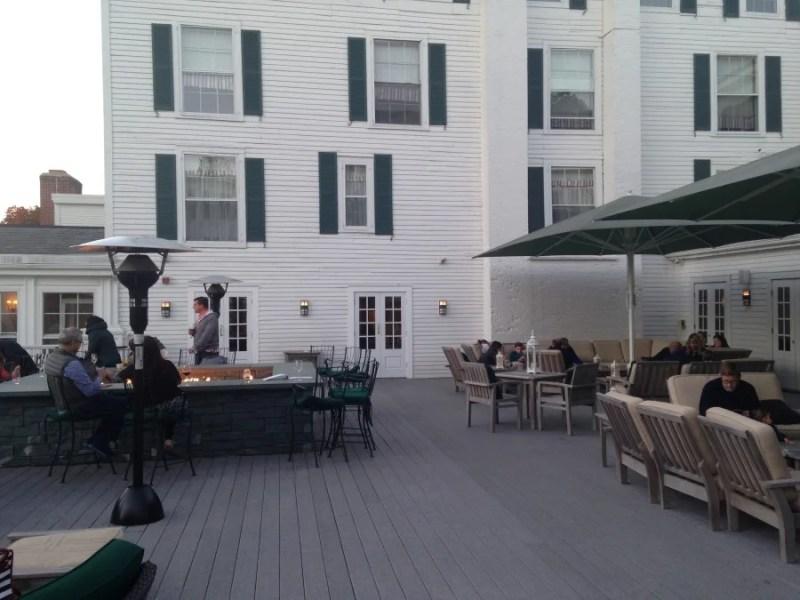 Equinox outdoor bar area