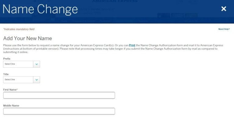 I filled out this AmEx Name Change affidavit three times.