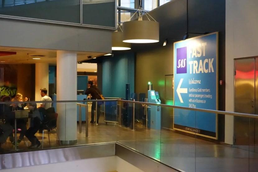 SAS' premium screening checkpoint at CPH.